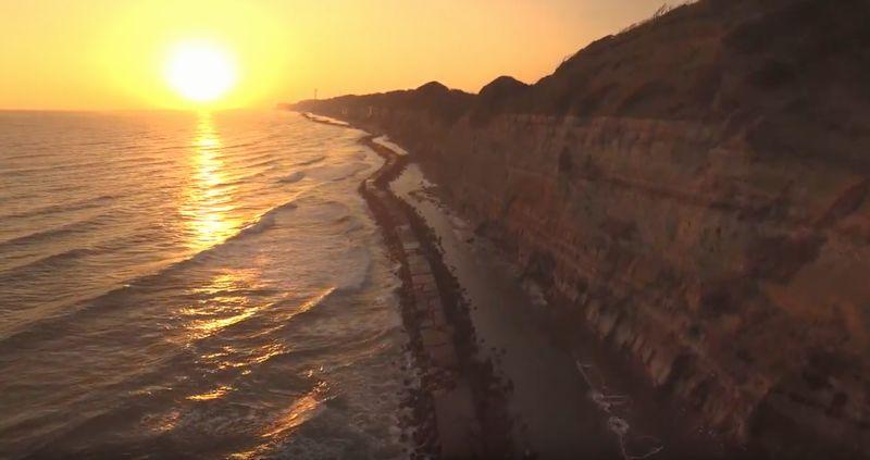 東洋のドーバー海峡を空撮